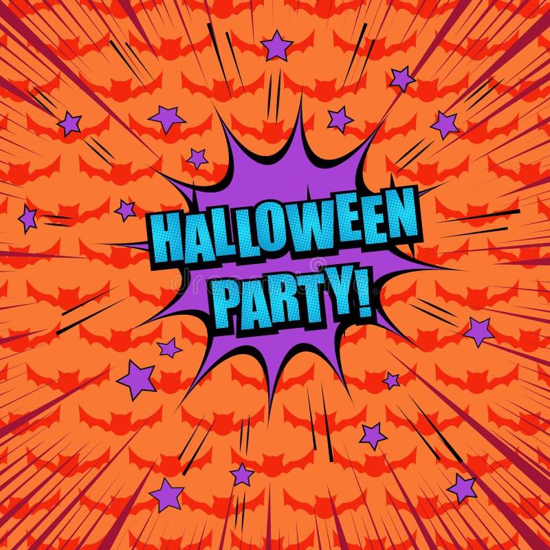 Komisches Halloween-Parteikonzept vektor abbildung