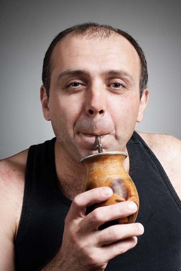 Komisches Portrait der freundlichen Person lizenzfreie stockfotografie