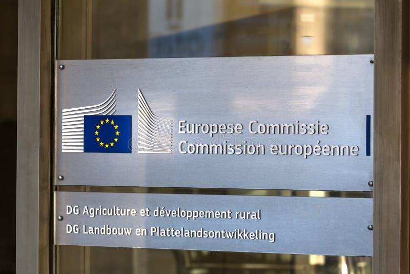 Komisja Europejska podpisuje wewnątrz Brussels Belgium obraz royalty free
