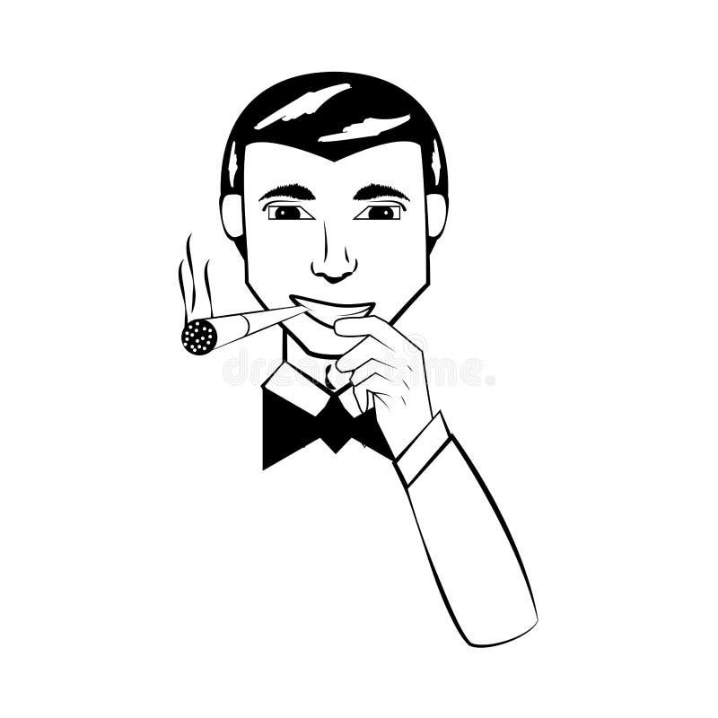 Komisk översikt för affärsman royaltyfri illustrationer