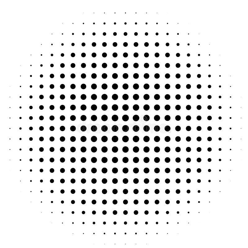 Komisk bakgrund stil för popkonst Modellen med cirklar som utstrålar från mittstarbursten, sol brast strålar, stock illustrationer