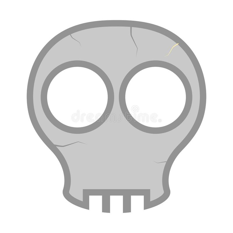 Komisk skallehuvudsymbol vektor illustrationer