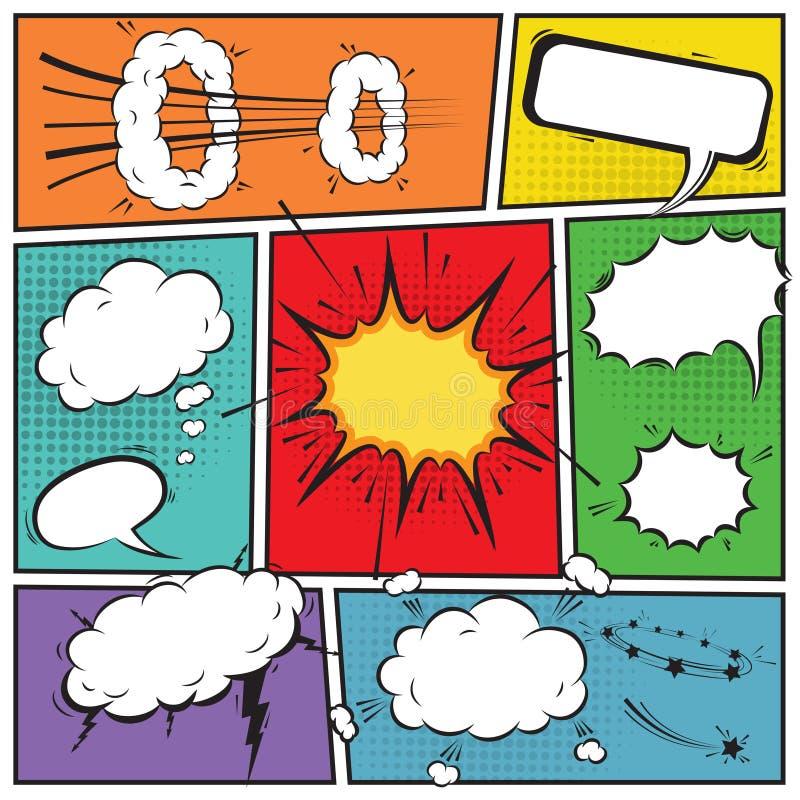 Komiska anförandebubblor vektor illustrationer