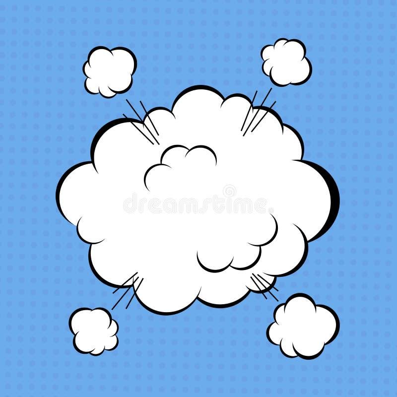 Komiskt moln royaltyfri illustrationer