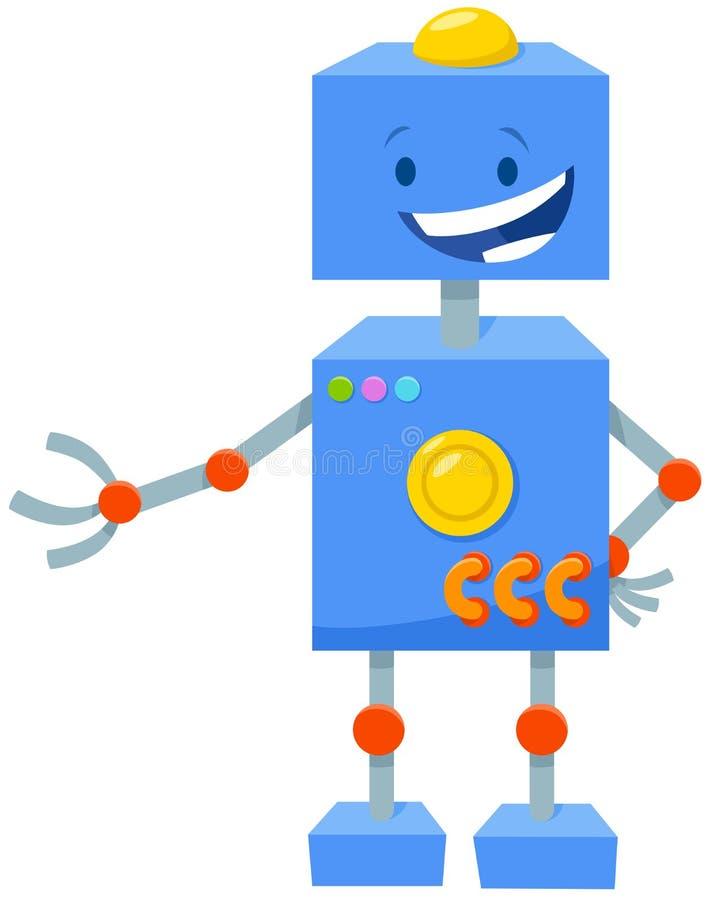 Komiskt tecken för robottecknad filmfantasi royaltyfri illustrationer