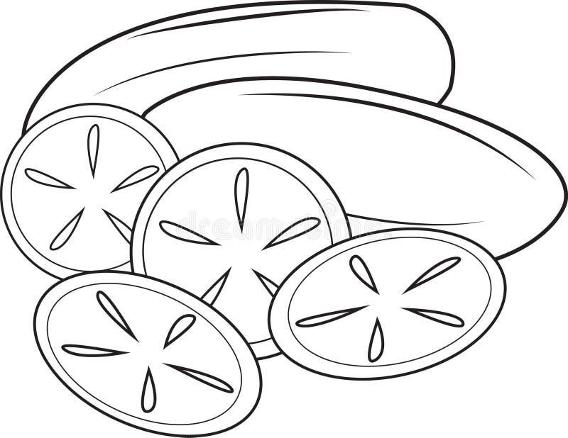 komkommer royalty-vrije illustratie