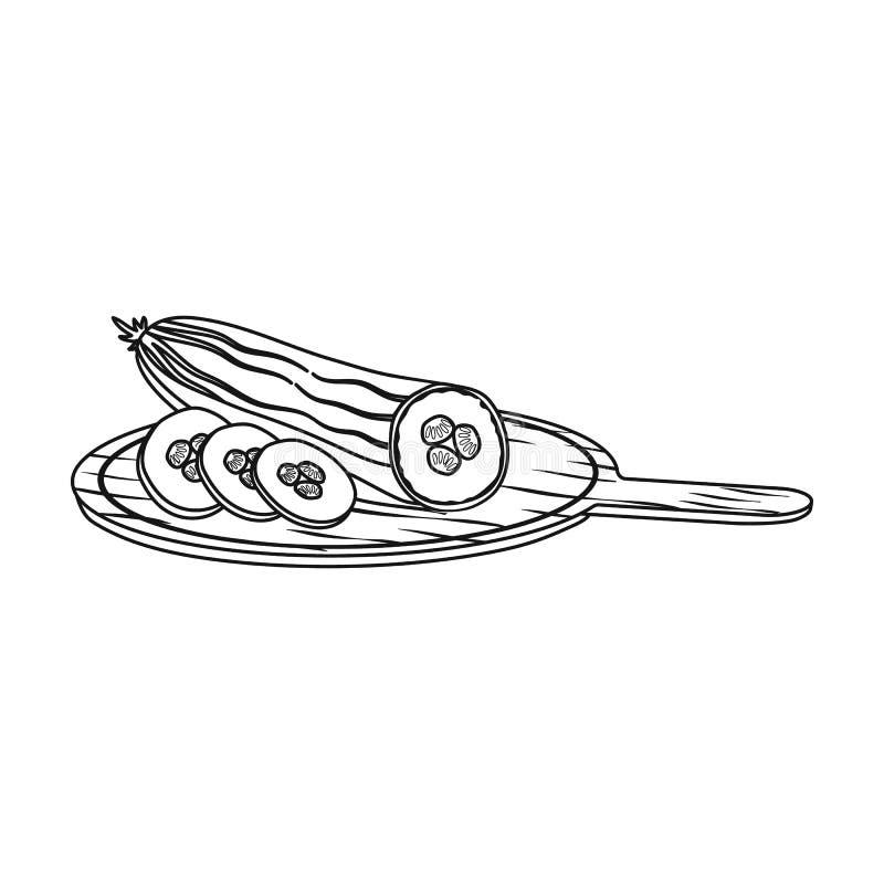 Komkommer, enig pictogram in overzichtsstijl Komkommer, vector de illustratieweb van de symboolvoorraad vector illustratie