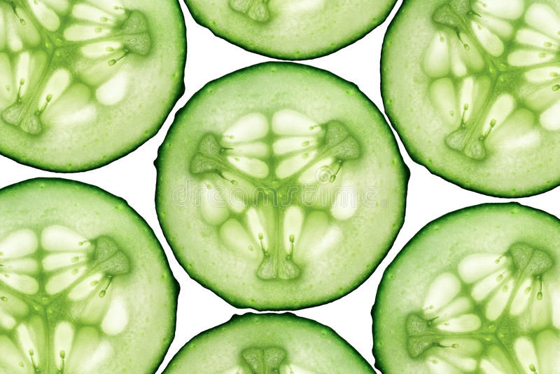 Komkommer geïsoleerde samenstelling stock fotografie