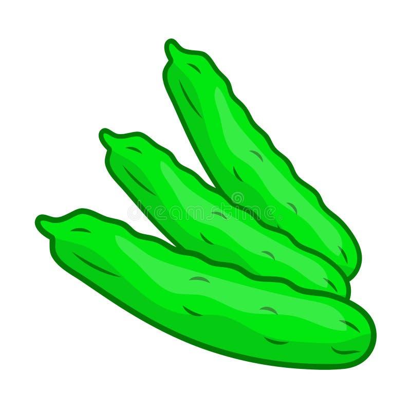 Komkommer ge?soleerde illustratie vector illustratie