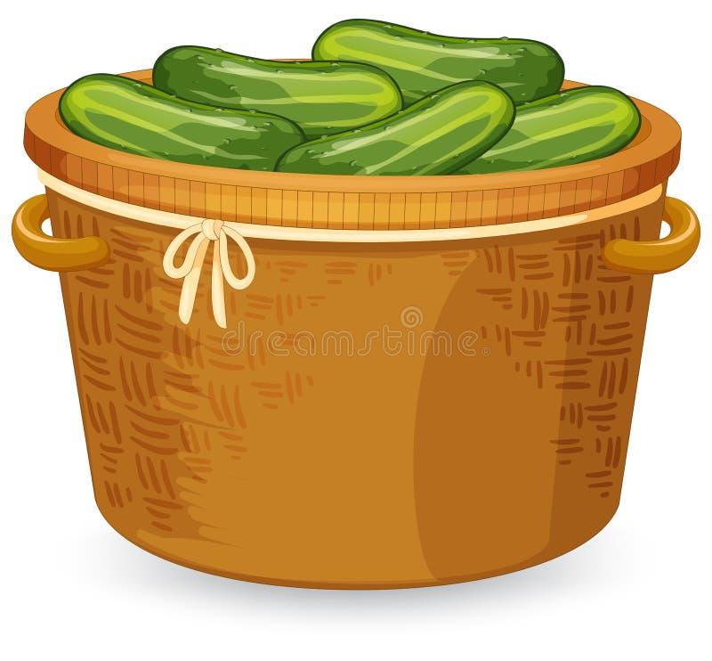Komkommer in mandewerk stock illustratie