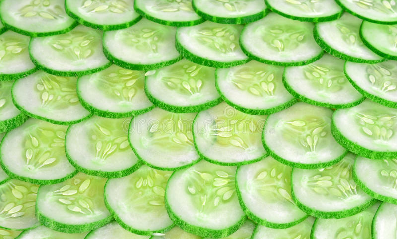 Komkommer silces achtergrond royalty-vrije stock afbeelding