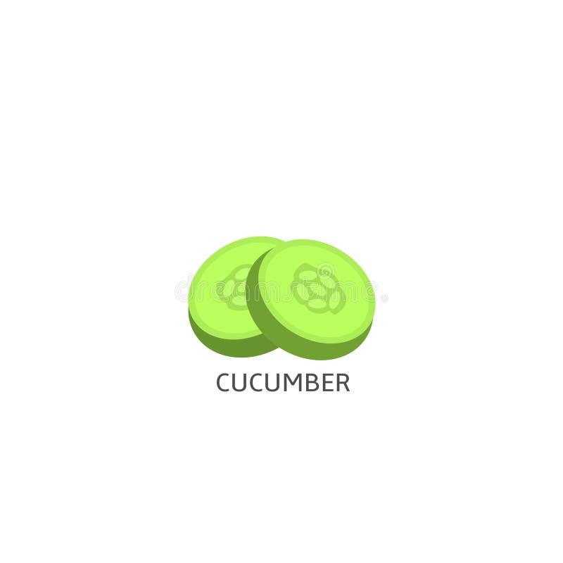 Komkommer vectorillustratie vector illustratie