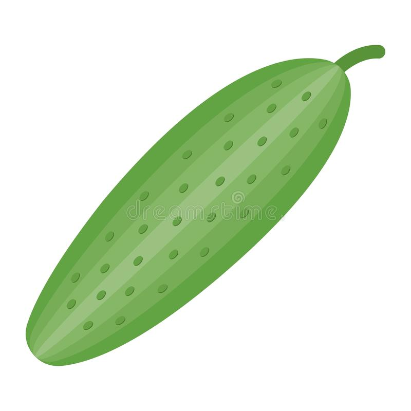 Komkommer vlak pictogram, groente en dieet stock illustratie