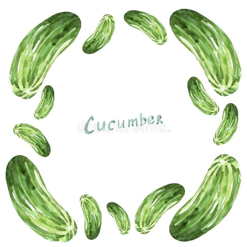 Komkommerkader stock illustratie