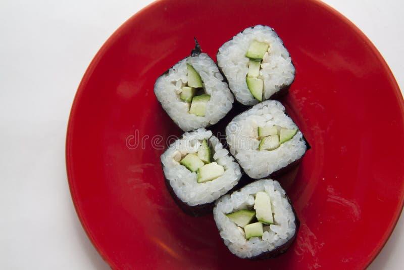 Komkommermaki stock afbeelding