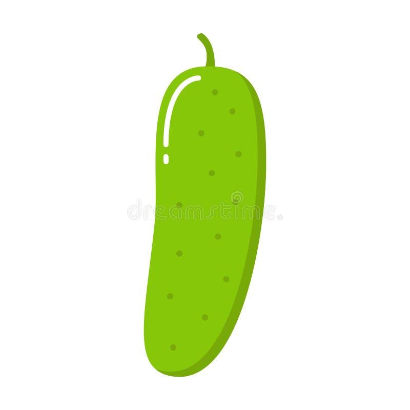 Komkommerpictogram Vlakke illustratie van komkommer vectorpictogram royalty-vrije illustratie