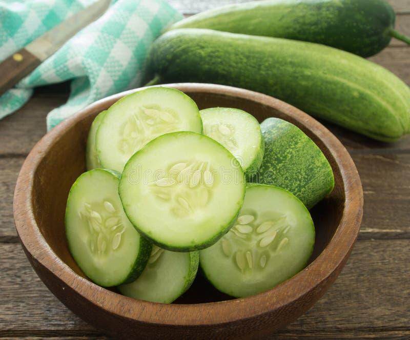 Komkommerplakken royalty-vrije stock foto's