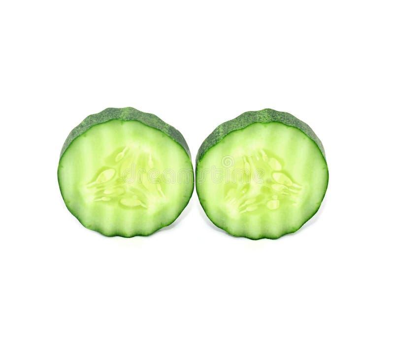 Komkommers met witte achtergrond stock foto's