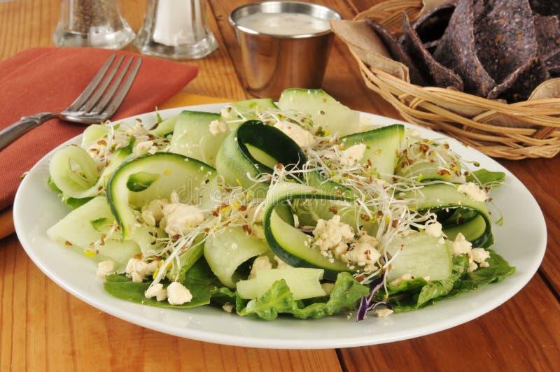 Download Komkommersalade stock afbeelding. Afbeelding bestaande uit groenten - 39116015