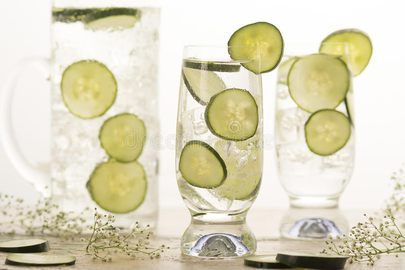 Komkommerwater royalty-vrije stock fotografie