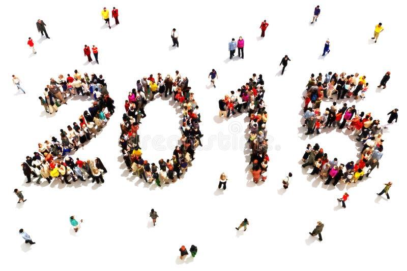 Komma med i det nya året royaltyfri illustrationer