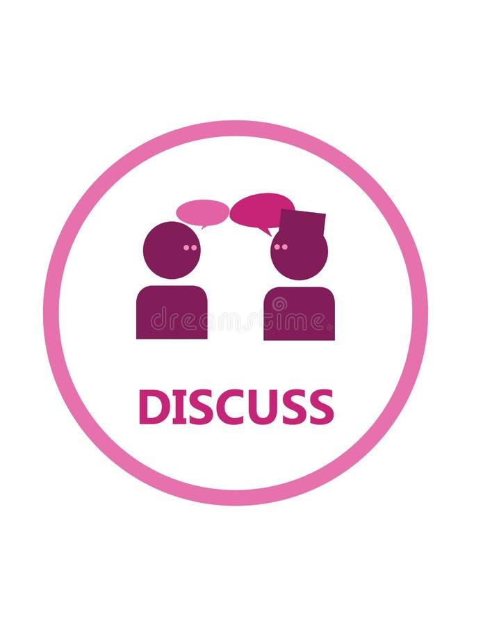 Komma med tillsammans tankar vid diskussion arkivfoton