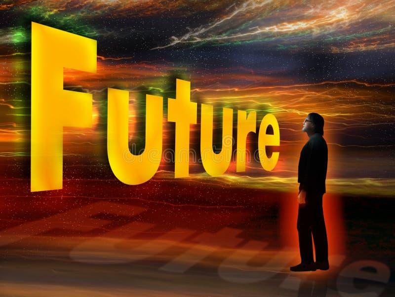 kommande framtid royaltyfri illustrationer