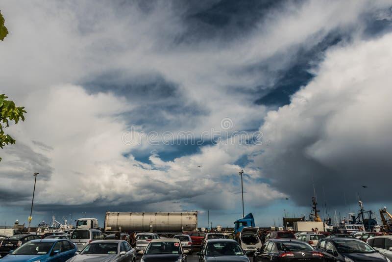 kommande storm royaltyfria foton