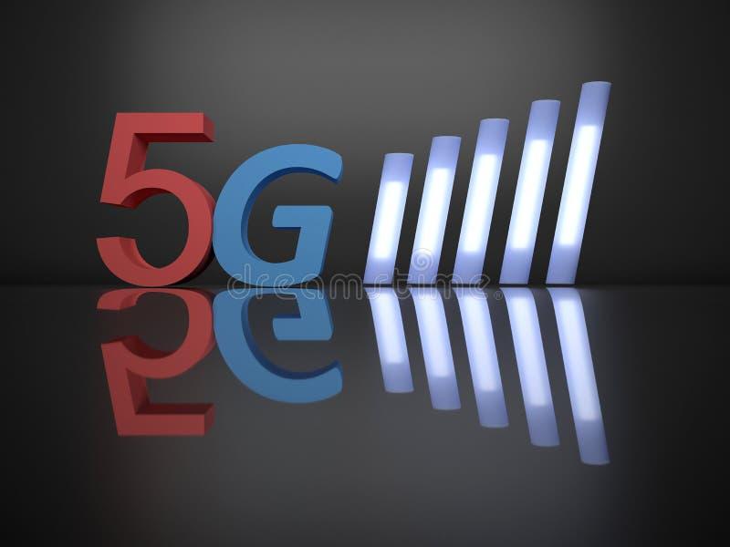 Kommande teknologi för mobil 5g stock illustrationer
