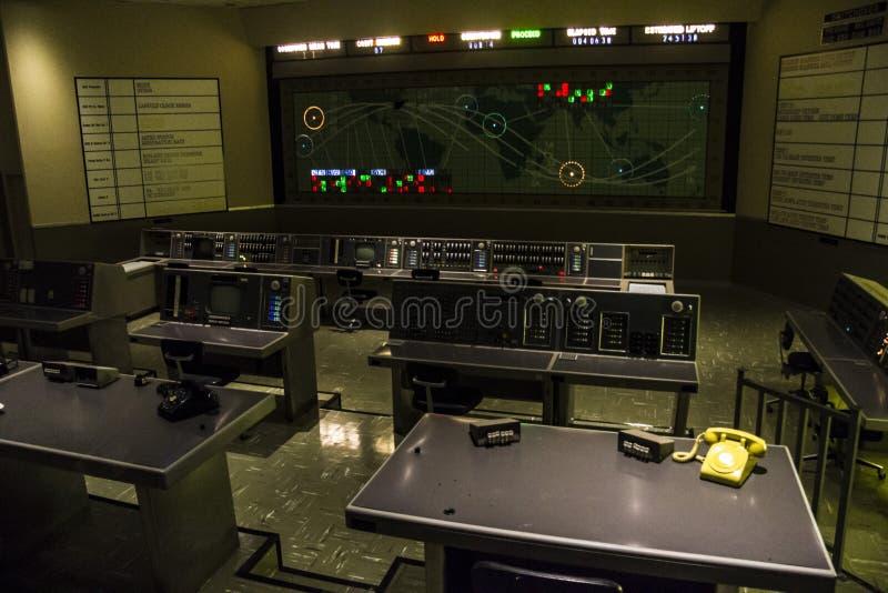 Kommandomitt i Kennedy Space Center arkivfoto