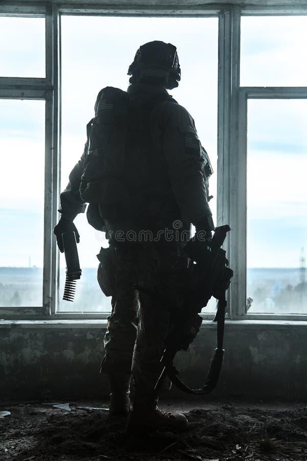 Kommandosoldat för Förenta staternaarmé royaltyfri bild