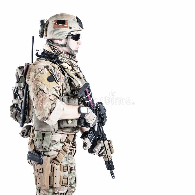 Kommandosoldat för USA-armé royaltyfri bild