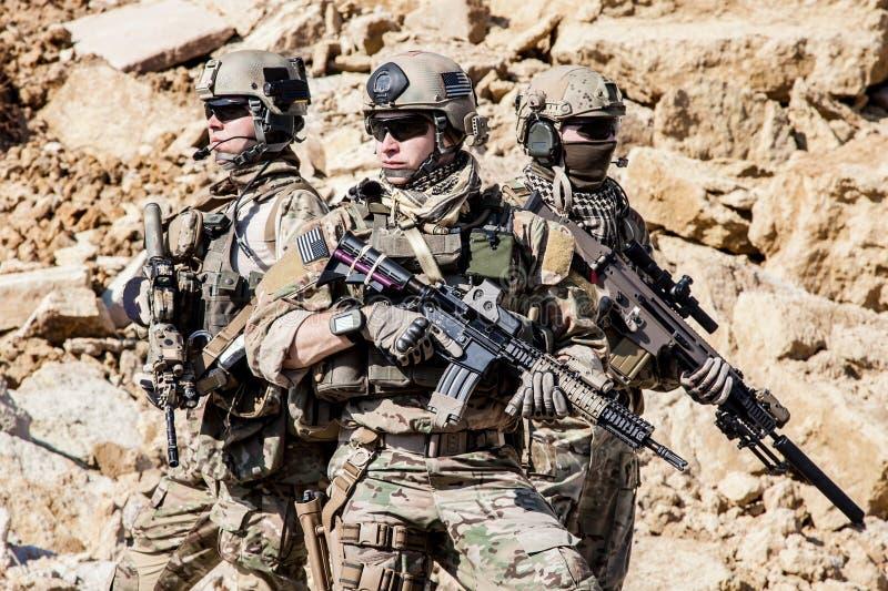 Kommandosoldater för Förenta staternaarmé royaltyfria foton