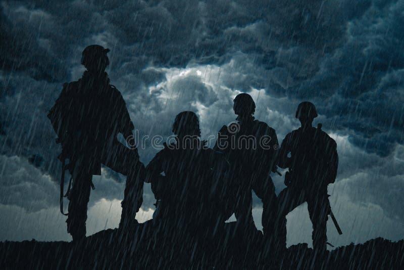 Kommandosoldater för Förenta staternaarmé royaltyfri fotografi