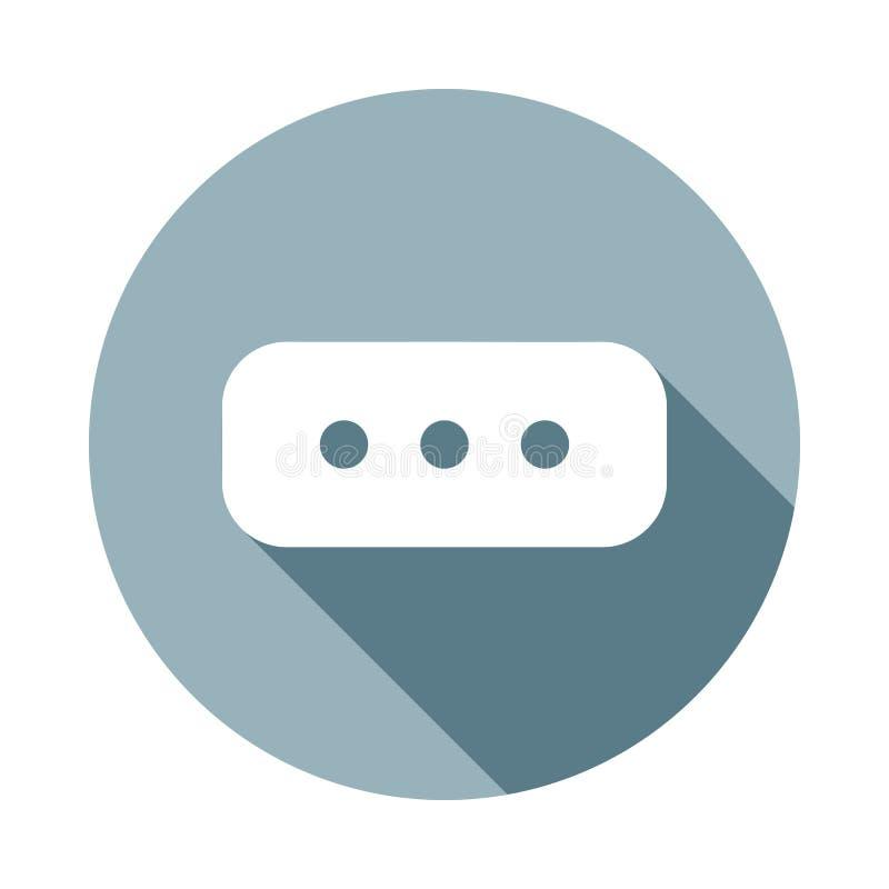 kommentarsymbol i plan lång skuggastil En av rengöringsduksamlingssymbolen kan användas för UI, UX stock illustrationer