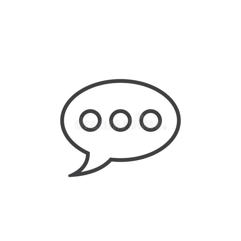 Download Kommentarzeile Ikone, Spracheblasenentwurfs-Logo Illustratio Stock Abbildung - Illustration von zeichen, rede: 90234870