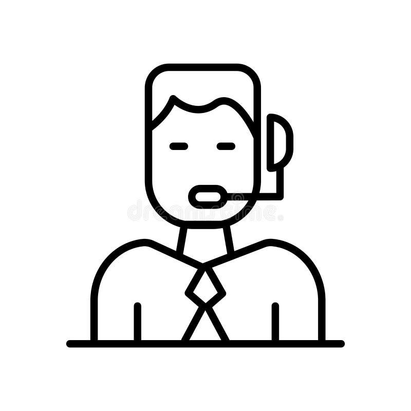 Kommentatorikonenvektor lokalisiert auf weißem Hintergrund, Kommentatorzeichen, Linie oder linearem Zeichen, Elemententwurf in de lizenzfreie abbildung