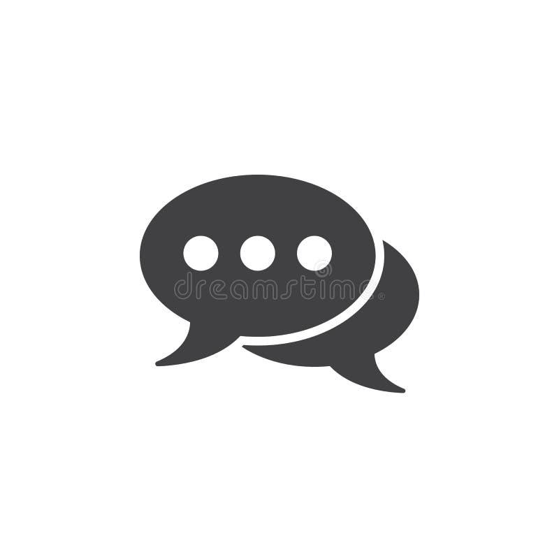 Download Kommentiert Ikone, Feste Logoillustration Der Spracheblasen, Ch Stock Abbildung - Illustration von symbol, ikone: 90234475