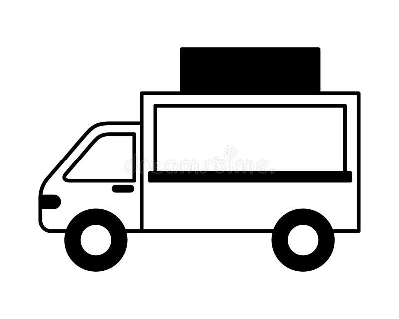 Kommers för mat för lastbilmedeltransport stock illustrationer