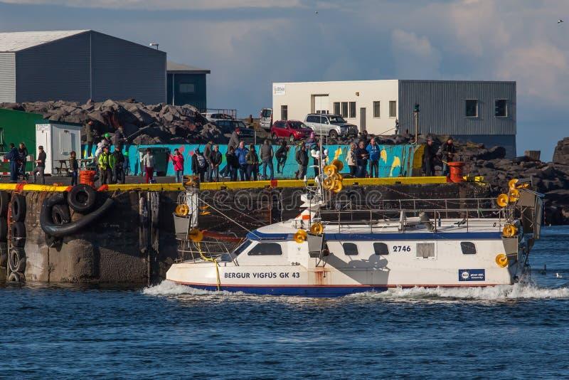 Kommersiell fiskebåt royaltyfri foto