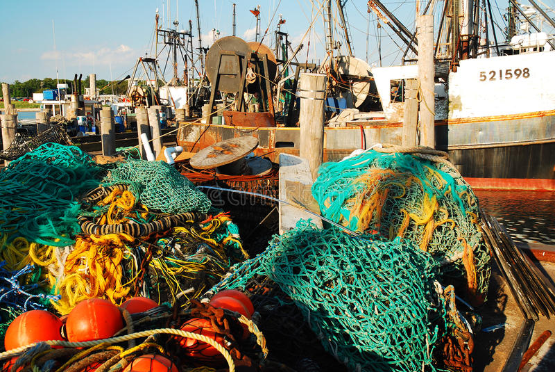 Kommersiell fiskeflotta royaltyfri bild