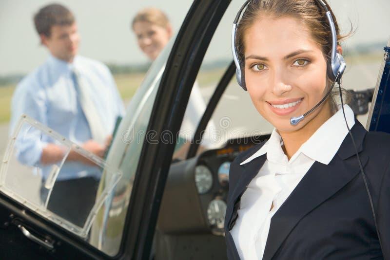 kommersiell pilot royaltyfri bild