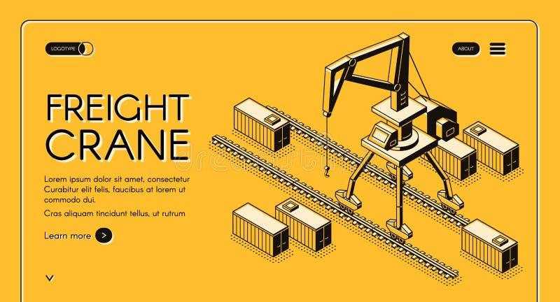 Kommersiell website för vektor för lastsändningsservice stock illustrationer