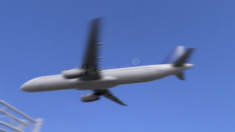 Kommersiellt flygplan som ankommer till den Jacksonville flygplatsen Resa till den begreppsmässiga animeringen 4K för Förenta sta lager videofilmer