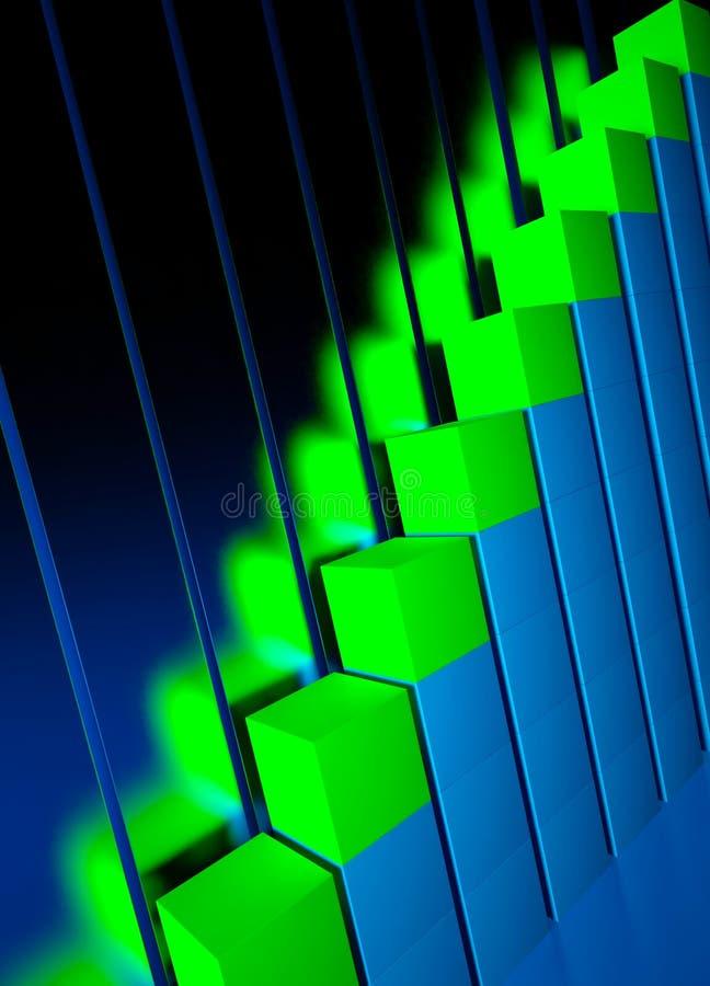 Kommerzielle Grafiken und Devisenschauzeichen stock abbildung