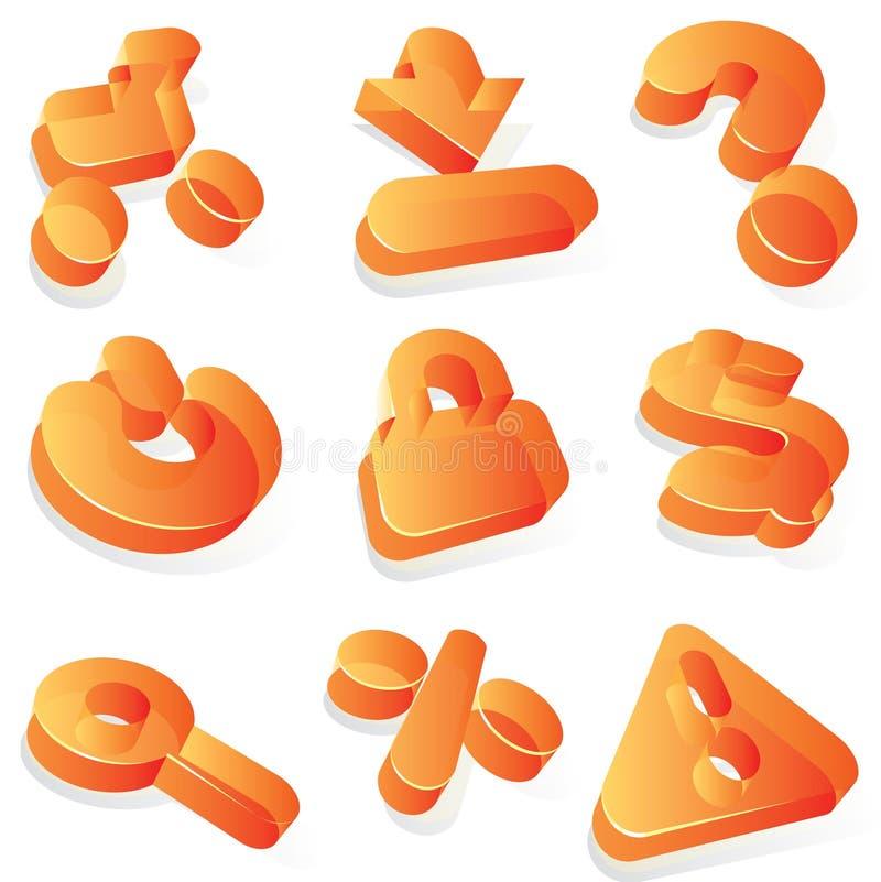 Kommerzielle orange Acrylikonen vektor abbildung