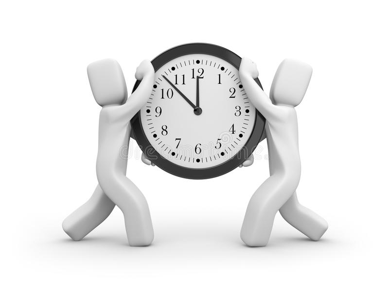kommet har tid vektor illustrationer
