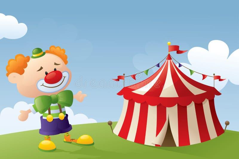 Kommet till cirkusen stock illustrationer