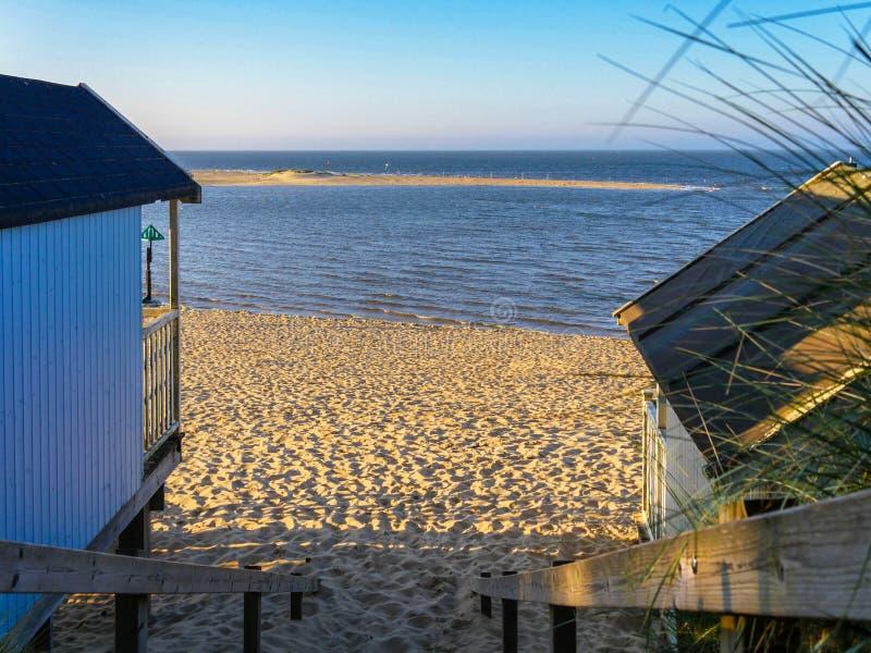 Kommet till stranden i Norfolk fotografering för bildbyråer