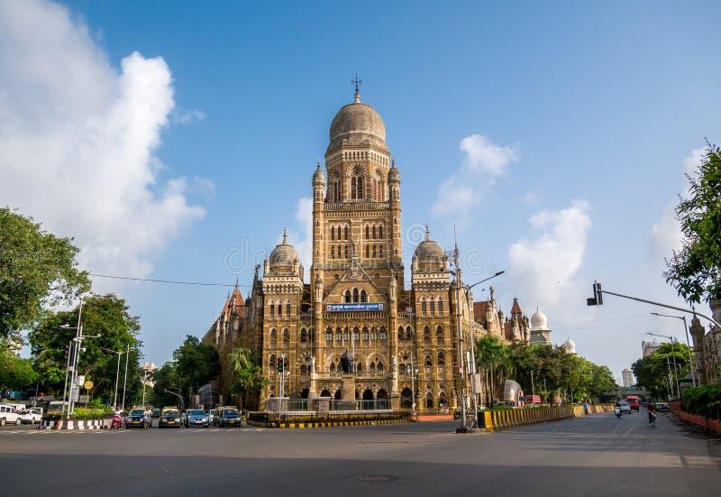 Kommunal byggnad för BMC i den Mumbai staden, fotografering för bildbyråer